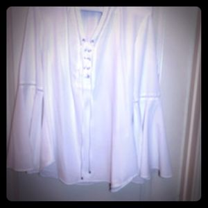 White romatic blouse